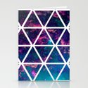 GALAXY TRIANGLES Stationery Cards