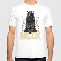 Dalek Unchained Mens Fitted Tee White SMALL
