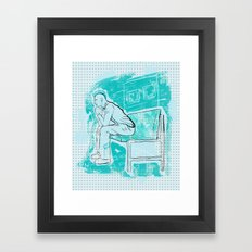 The Thought Remains The Same  Framed Art Print