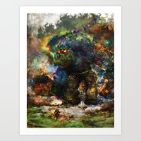 Shadow Of The Witcher Art Print