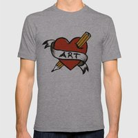 In love with Art Mens Fitted Tee Athletic Grey SMALL