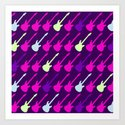 Electric Guitars #2 Art Print