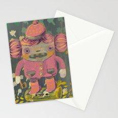 lumberjack girl portrait (sister nature's evil twin) Stationery Cards