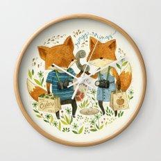 Fox Friends Wall Clock