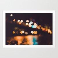 portland lights Art Print