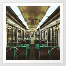 Paris Metro cab Art Print