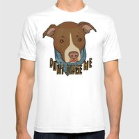 Pit bull Pride Mens Fitted Tee White SMALL