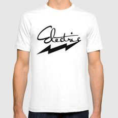 electric SMALL Mens Fitted Tee White