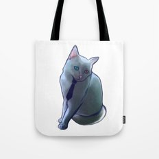 bowie cat Tote Bag