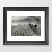 On Winchelsea Beach Framed Art Print