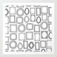 Picture Frames Mono Art Print