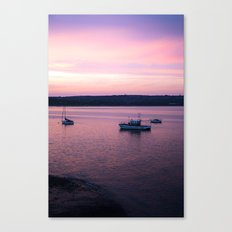 Dusk in the Harbour. Canvas Print