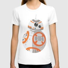 BB-8 Womens Fitted Tee White SMALL