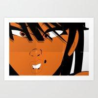 Pop 01 Close - Colour Poster Edition Art Print