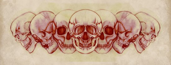 Sequential Skulls Art Print