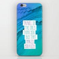 Travel mindfulness print iPhone & iPod Skin