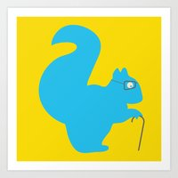 The Blind Squirrel Art Print