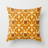 Cute Animals Pattern  Throw Pillow