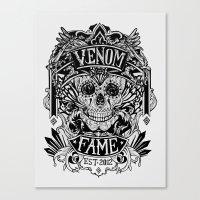 Venom Fame crest Canvas Print