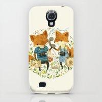 Galaxy S4 Cases featuring Fox Friends by Teagan White