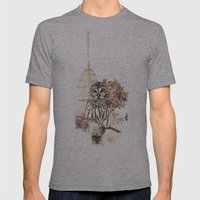 Oh My OWL! Mens Fitted Tee Athletic Grey SMALL