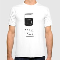 HALF FOOL Mens Fitted Tee White SMALL