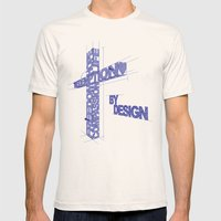 By Design Mens Fitted Tee Natural SMALL