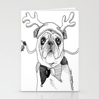 Jingle Pug Stationery Cards