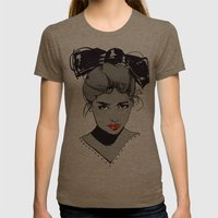 bow Womens Fitted Tee Tri-Coffee SMALL
