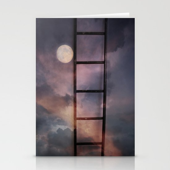 Beyond the Moon and back Stationery Card