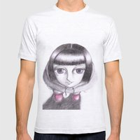 gaia Mens Fitted Tee Ash Grey SMALL