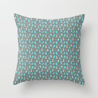 Green and Blue Cowgirl Boots Throw Pillow