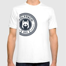 WOLPACK BROS White Mens Fitted Tee SMALL