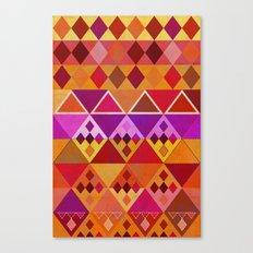 Fire Diamond Pattern Canvas Print