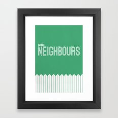 Neighbours Framed Art Print