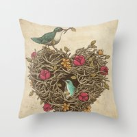 Home Is Where The Heart … Throw Pillow