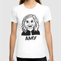 Amy Poehler Womens Fitted Tee White SMALL