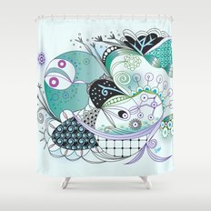 Winter tangle Shower Curtain