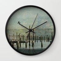 Pelicans Landing Wall Clock