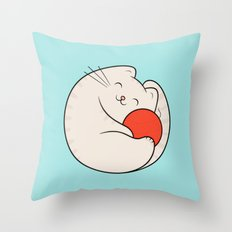 nila, the cat Throw Pillow