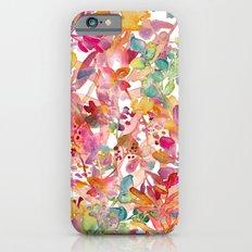 watercolor meadow Slim Case iPhone 6s