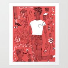 Diving into a trance Art Print