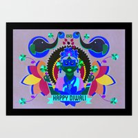 Goddess Lakshmi from India Art Print