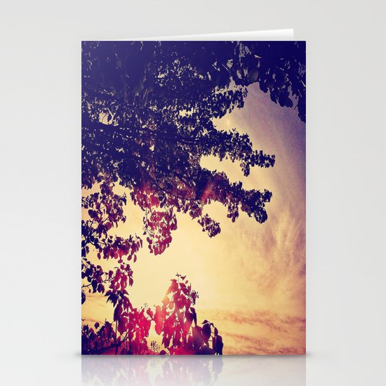 Leaves Stationery Card