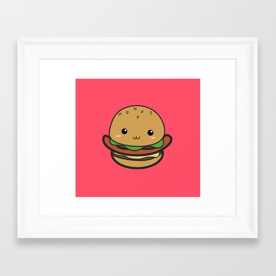 Cute Hamburguer Framed Art Print