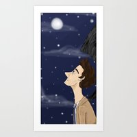 Castiel in thought Art Print