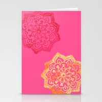 Happy bright lace flower Stationery Cards