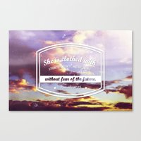 Strength & dignity  Canvas Print