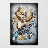 Paul's Monkey Canvas Print