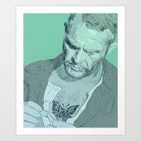 Papillon - Steve McQueen Art Print